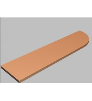 Krycí deska tvarová Square 160 cm - pravá