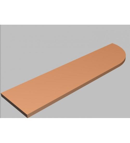 Krycí deska tvarová Square 200 cm - pravá - MS2200R
