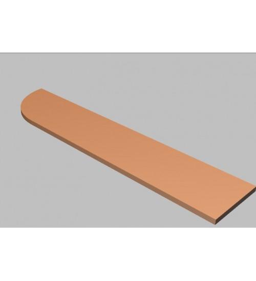 Krycí deska tvarová Square 200 cm - levá - MS2200L