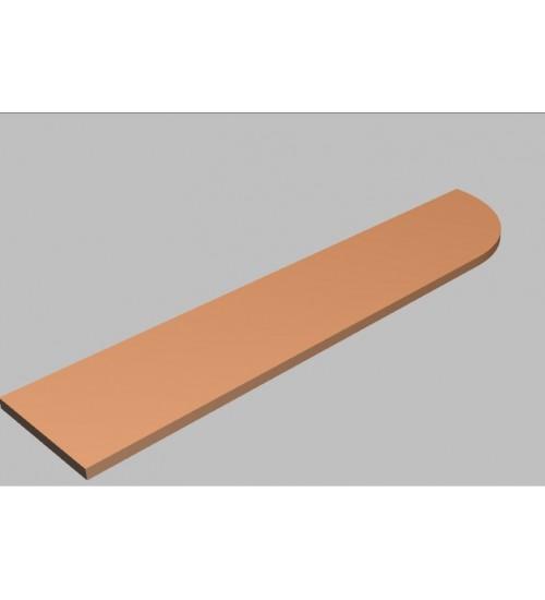 Krycí deska tvarová Square 240 cm - pravá - MS2240R