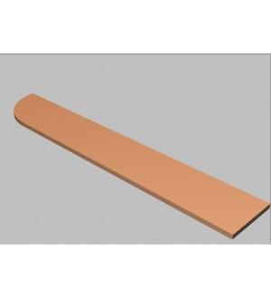 Krycí deska tvarová Square 240 cm - levá