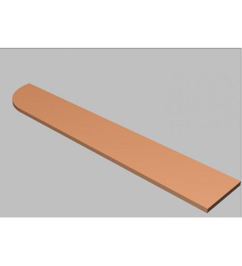 Krycí deska tvarová Square 240 cm - levá - MS2240L