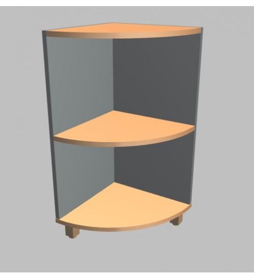 Kancelářská skříň Square rohová nízká 81,5 cm - MS2604
