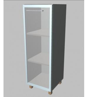 Kancelářská skříň Square úzka prosklená střední 117 cm - pravá - MS3124R