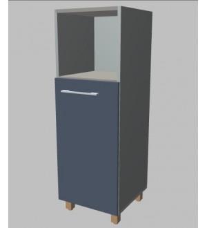 Kancelářská skříň Square úzka s nikou  střední 117 cm - pravá