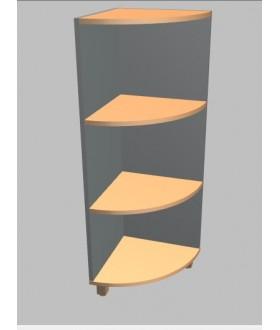 Kancelářská skříň Square rohová střední 117 cm