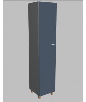 Kancelářská skříň Square úzká vysoká 189 cm - levá