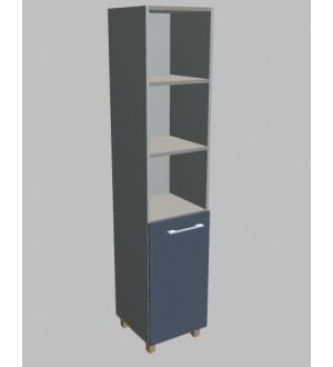 Kancelářská skříň  Square úzká s nikou vysoká 189 cm - levá - MS5201L