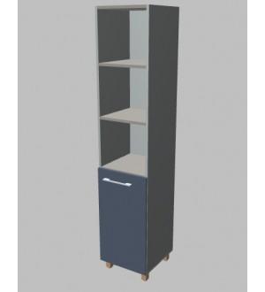 Kancelářská skříň Square úzká s nikou vysoká 189 cm - pravá - MS5204R