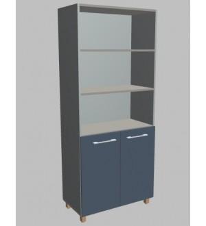 Kancelářská skříň Square s nikou 2-dveřová vysoká 189 cm - MS5208