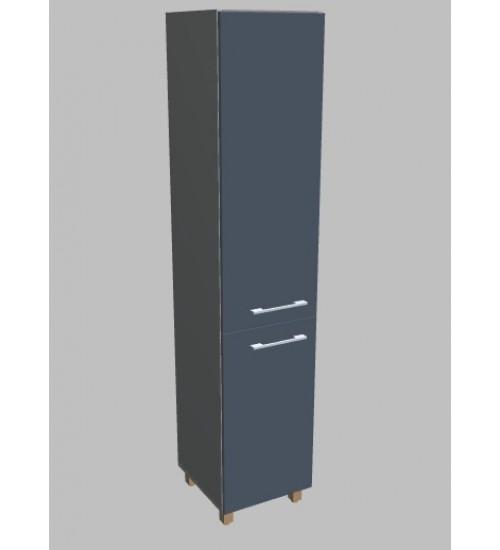 Kancelářská skříň  Square úzká dvodveřová vysoká 189 cm - levá