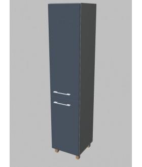 Kancelářská skříň Square úzká dvodveřová vysoká 189 cm - pravá