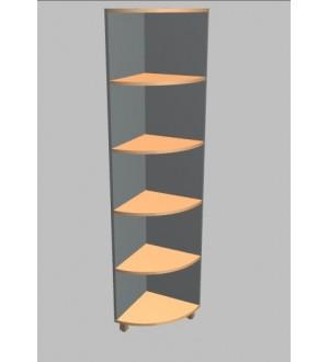 Kancelářská skříň Square rohová vysoká 189 cm - MS5604