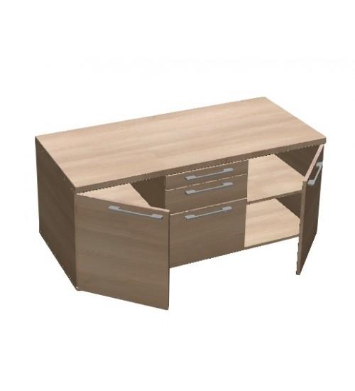 Kontejner - odkládací skříň Square 3zásuvková - MS6313