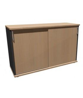 Skříň policová Standard s posuvnými dveřmi - výška 75 cm