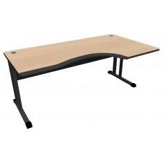 Kancelářský stůl Expres 160x100/80 cm PUR hrana -pravý - CL3016PURR