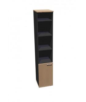 Skříň policová Standard dělená s dveřmi - výška 202 cm levá