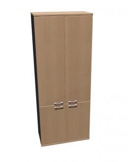 Skříň policová Standard dělená s dveřmi - výška 202 cm