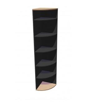 Skříň policová Standard rohová - výška 202 cm