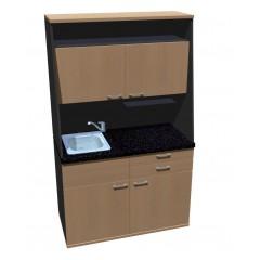 Minikuchyně s dveřmi v horní části MK0122