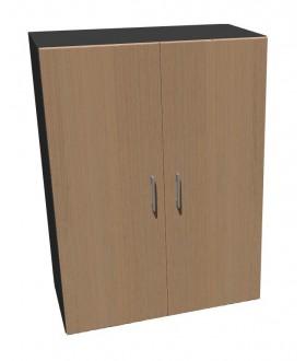 Kancelářská skříň Standard dvoudveřová - výška 109 cm