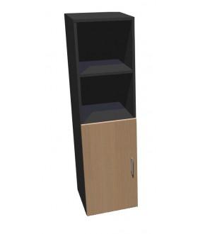 Kancelářská skříň Standard dělená s dveřmi - výška 144 cm levá - SK0424L