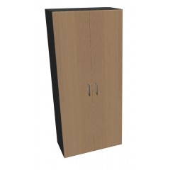 Kancelářská skříň Standard II dvoudveřová policová - výška 178 cm - SK0518