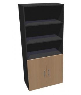 Kancelářská skříň Standard II dělená dvoudveřová - výška 178 cm - SK0528