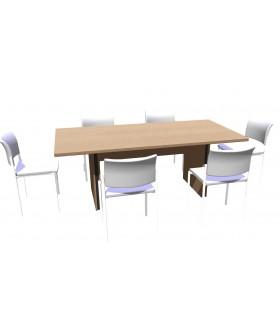 Jednací stůl Level 200x100cm
