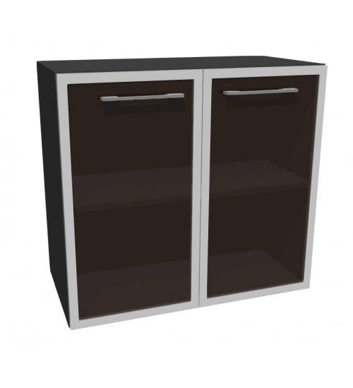 Kancelářská skříň nízká sklo Level MN2128