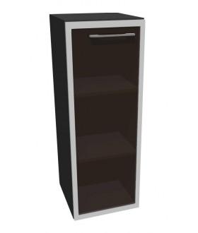 Kancelářská skříň střední úzká-sklo Level MN3124