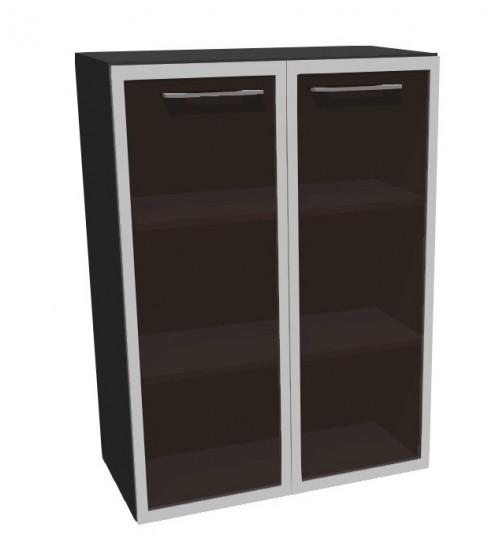 Kancelářská skříň střední sklo Level MN3128