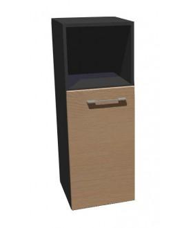 Kancelářská skříň střední úzká dělená Level MN3204