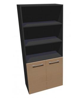 Kancelářská skříň vysoká dělená Level MN5208