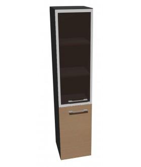 Kancelářská skříň vysoká úzká-sklo Level MN5424