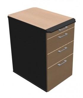 Přístavný kontejner  4-zásuvkový PUR hrana - KN7404PUR